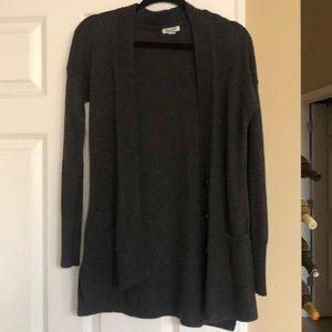 Grey cardigan with pockets-boyfriend fit
